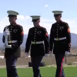 USAF and Marines Present Together, Bugler Ceremony, 21 Gun Volley
